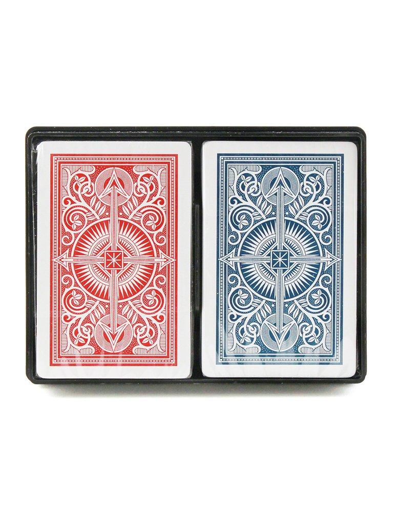 KEM Arrow cards red and blue